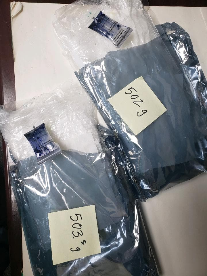 Two packages of methamphetamine weighing 502 and 503.5 grams respectively