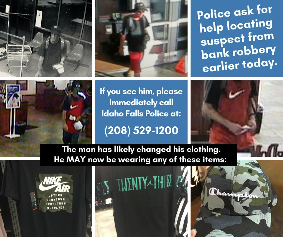Suspect of armed robbery from 6-26-2018